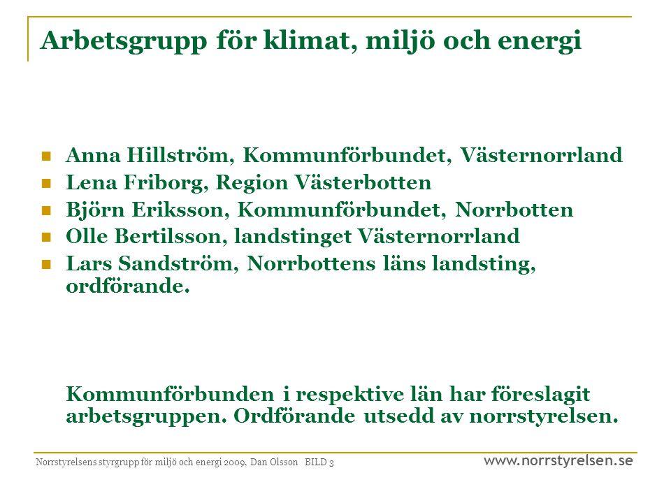 Arbetsgrupp för klimat, miljö och energi