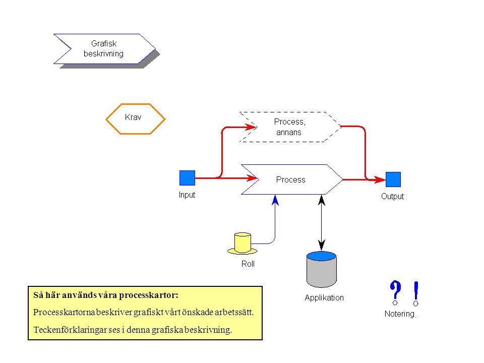 Så här används våra processkartor:
