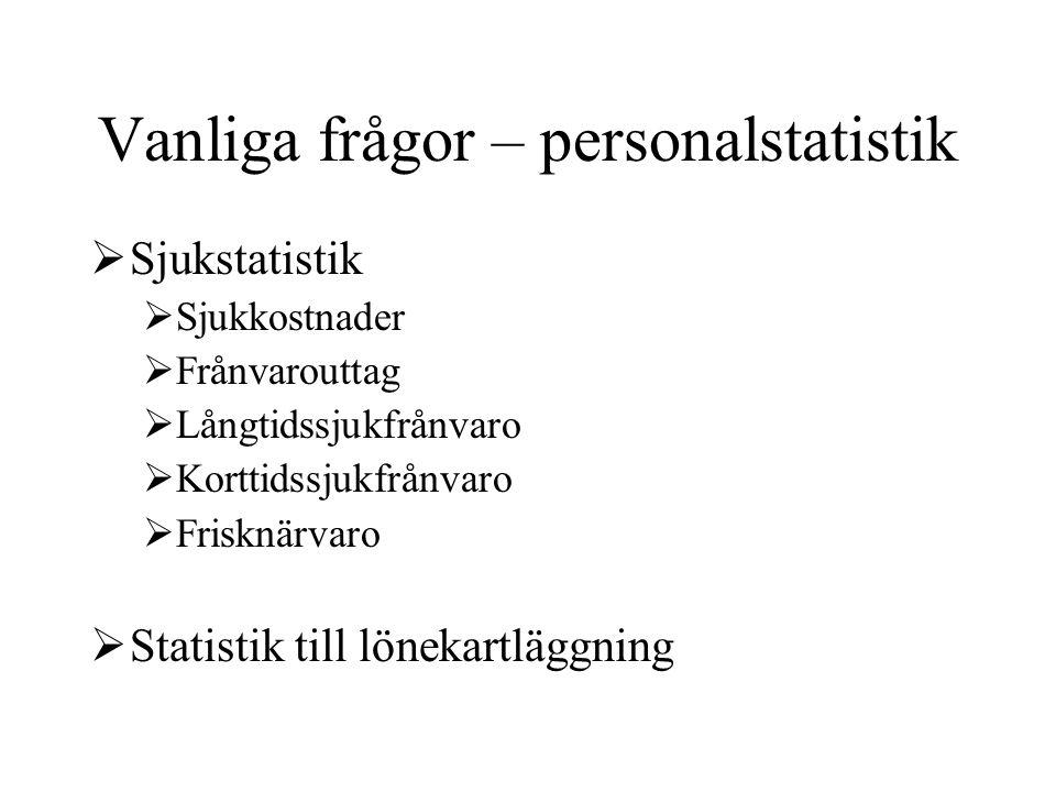 Vanliga frågor – personalstatistik