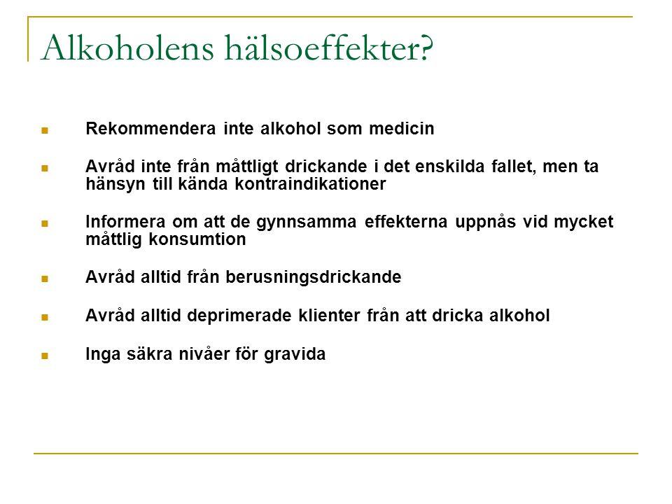 Alkoholens hälsoeffekter