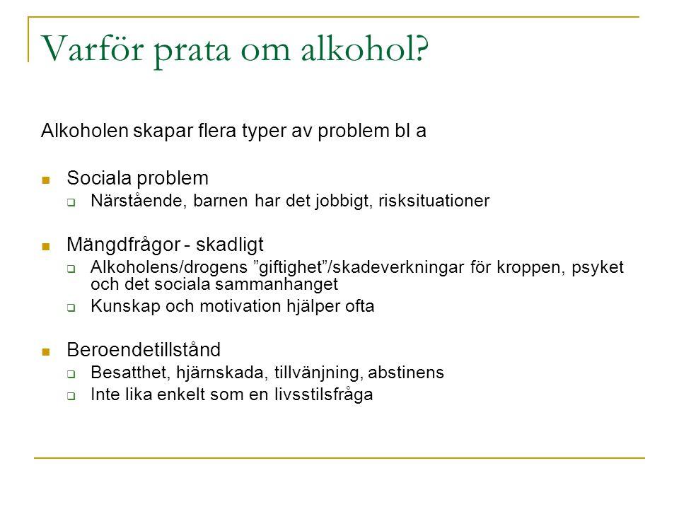 Varför prata om alkohol