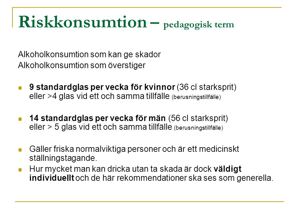 Riskkonsumtion – pedagogisk term