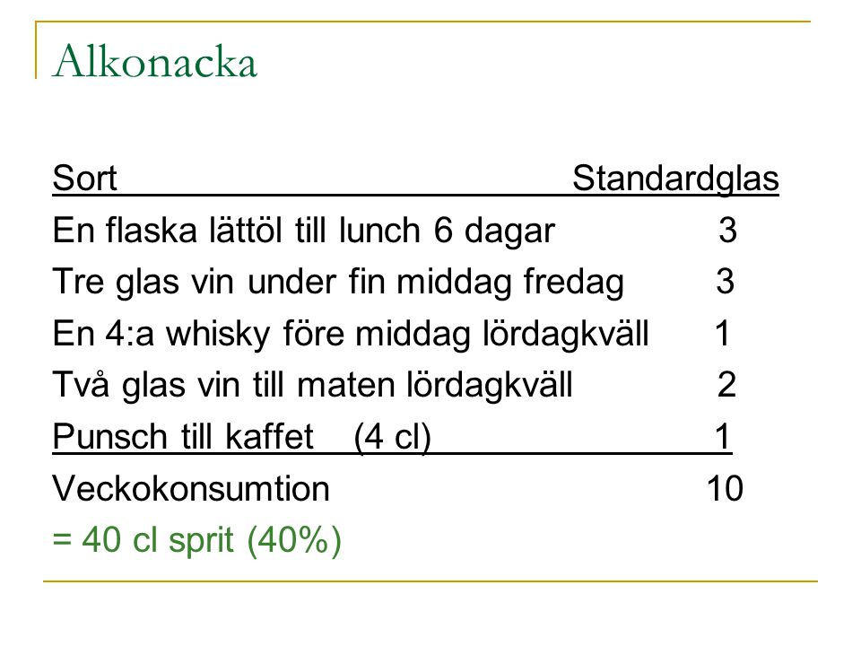 Alkonacka Sort Standardglas En flaska lättöl till lunch 6 dagar 3
