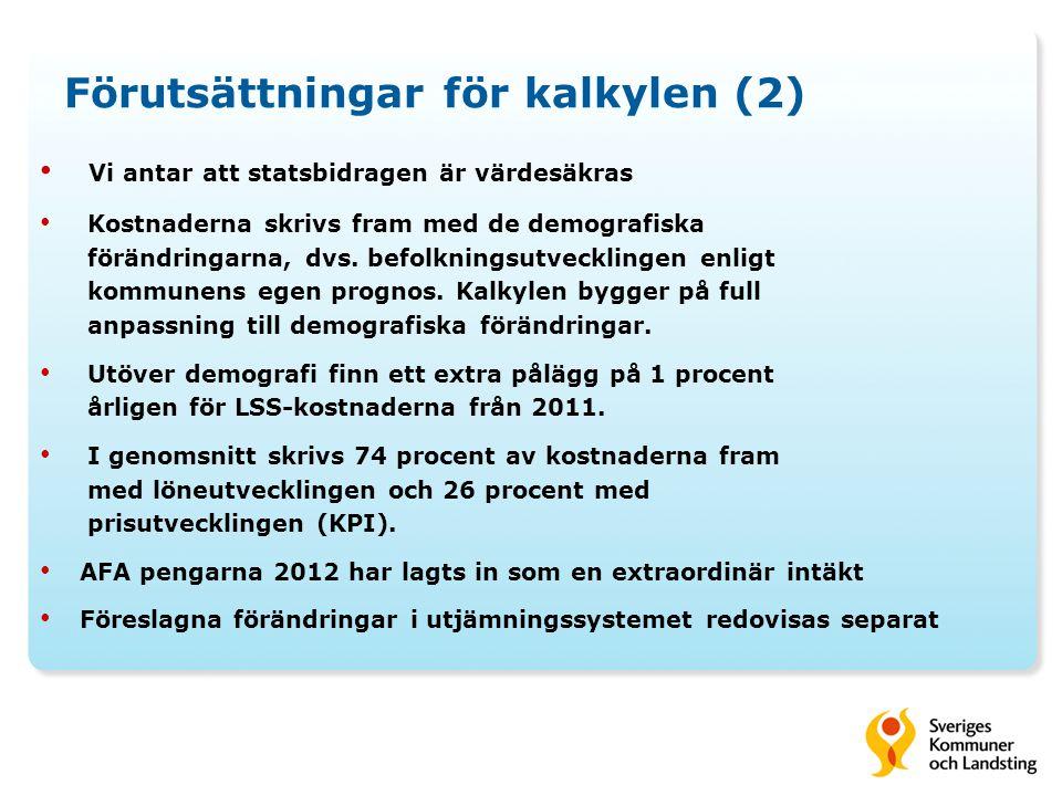 Förutsättningar för kalkylen (2)