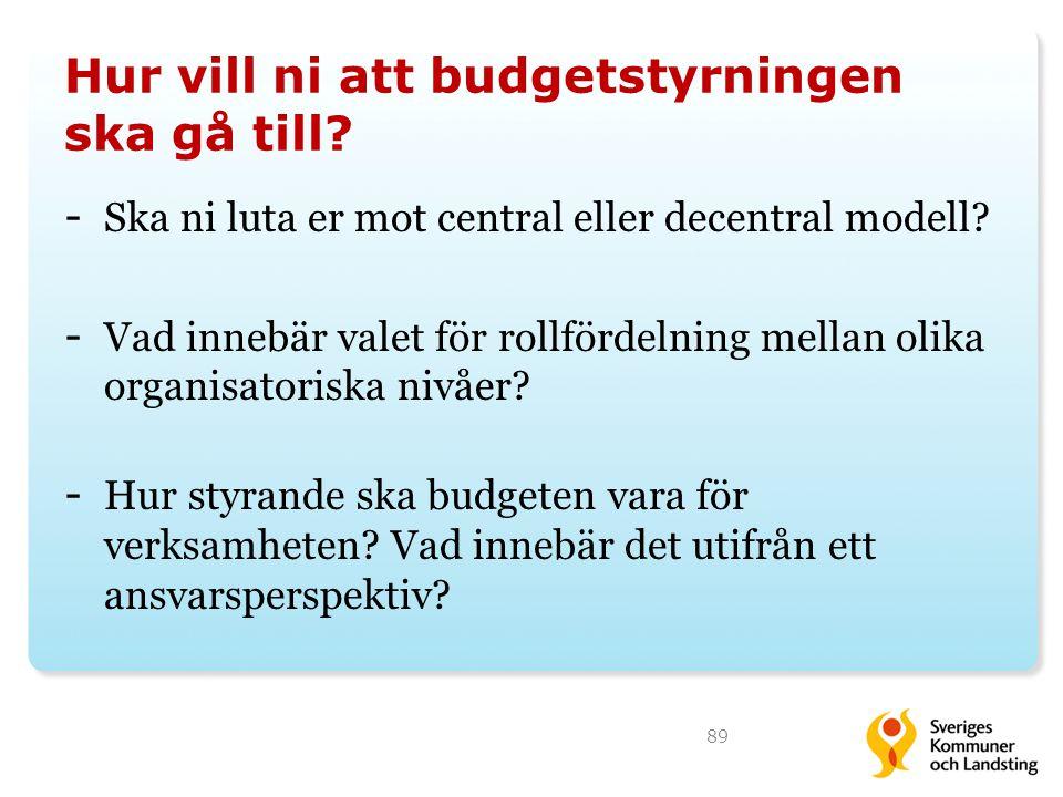 Hur vill ni att budgetstyrningen ska gå till