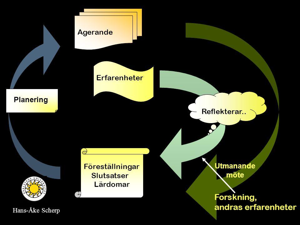 Erfarenhetslärandet Forskning, andras erfarenheter Agerande