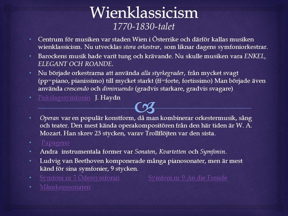 Wienklassicism 1770-1830-talet