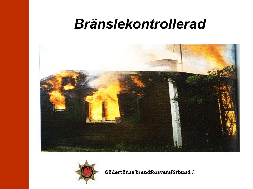 Bränslekontrollerad Branden har hur mycket syre som helst. Det som begränsar branden är bränslet.