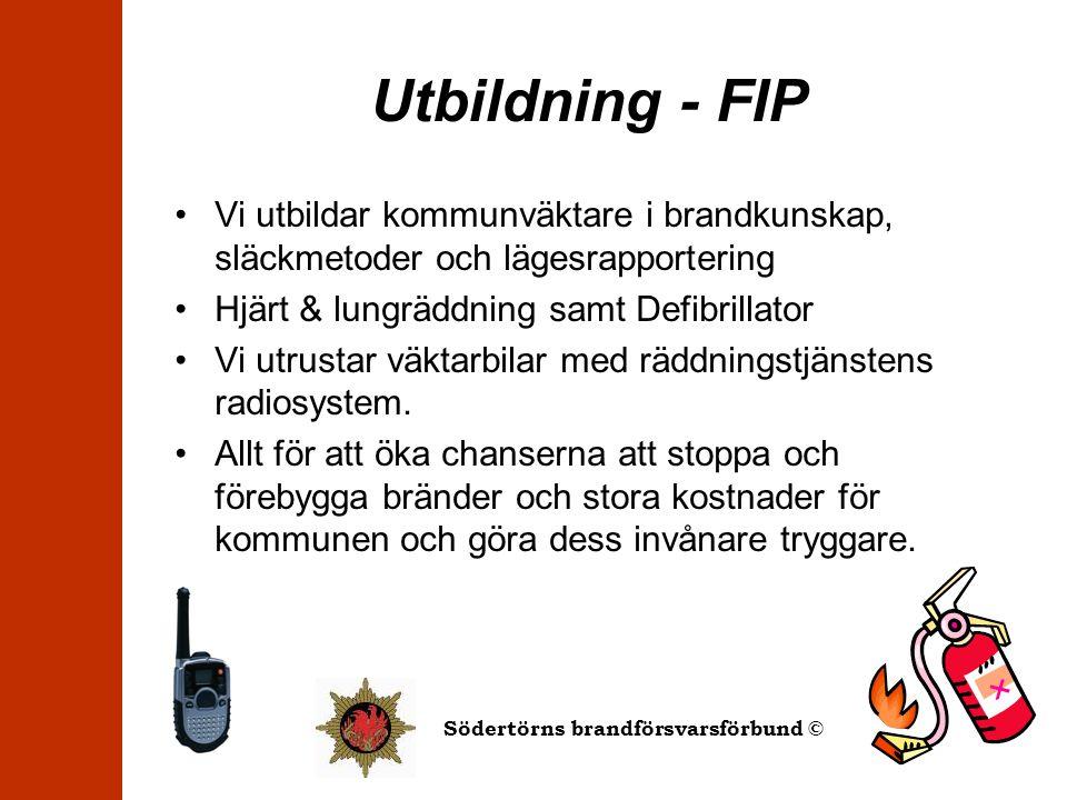 Utbildning - FIP Vi utbildar kommunväktare i brandkunskap, släckmetoder och lägesrapportering. Hjärt & lungräddning samt Defibrillator.