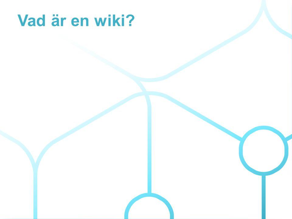 Vad är en wiki