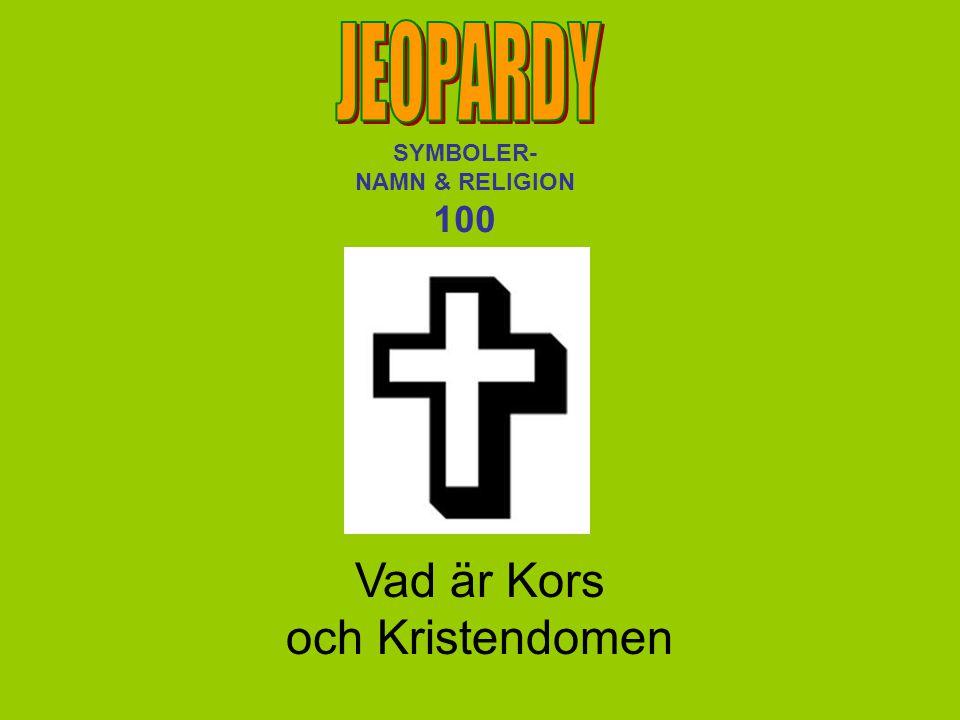 SYMBOLER- NAMN & RELIGION 100