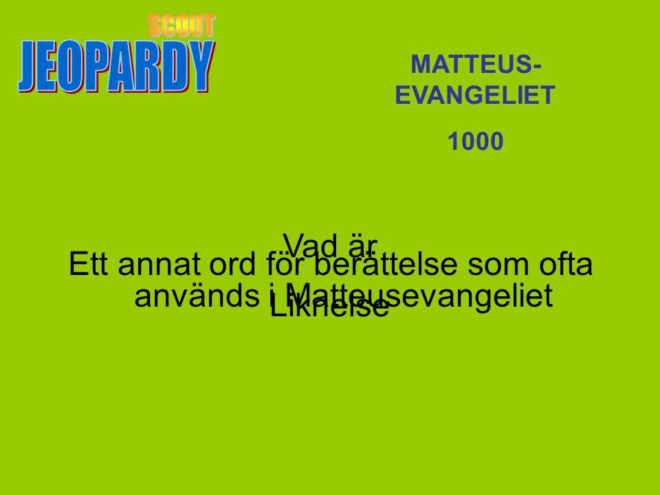 Ett annat ord för berättelse som ofta används i Matteusevangeliet