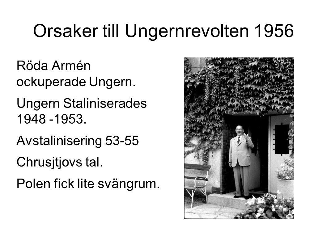 Orsaker till Ungernrevolten 1956