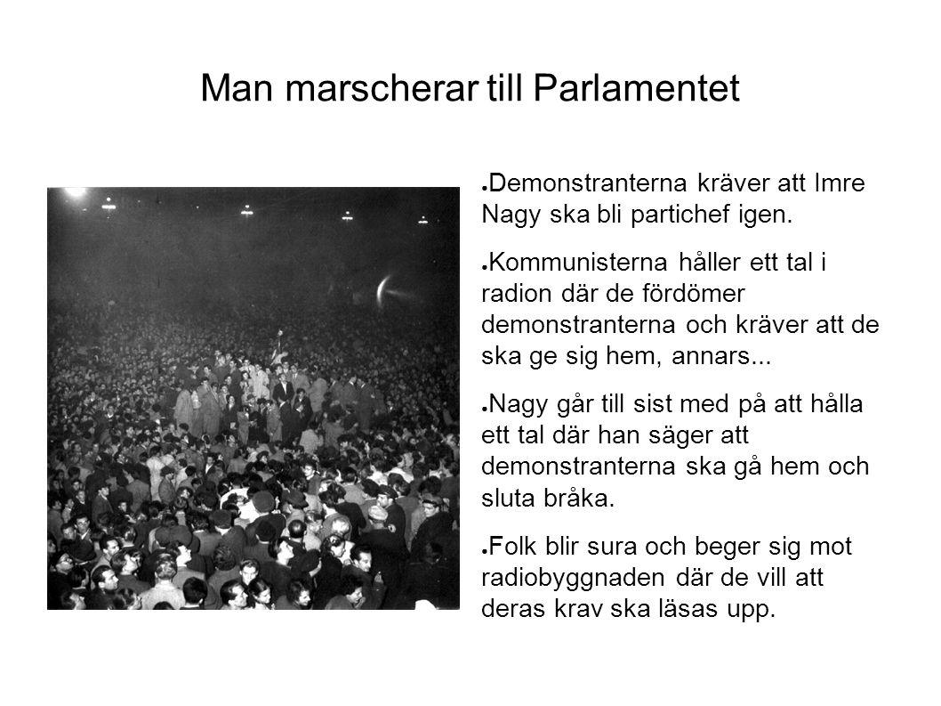 Man marscherar till Parlamentet
