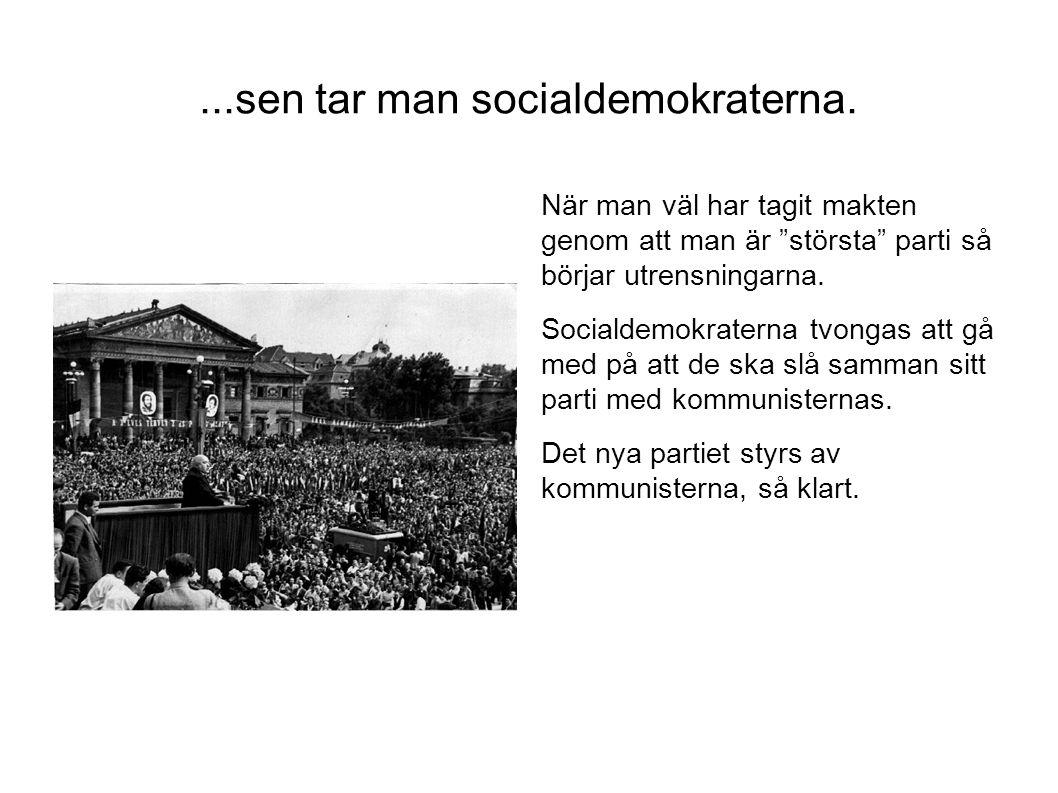 ...sen tar man socialdemokraterna.