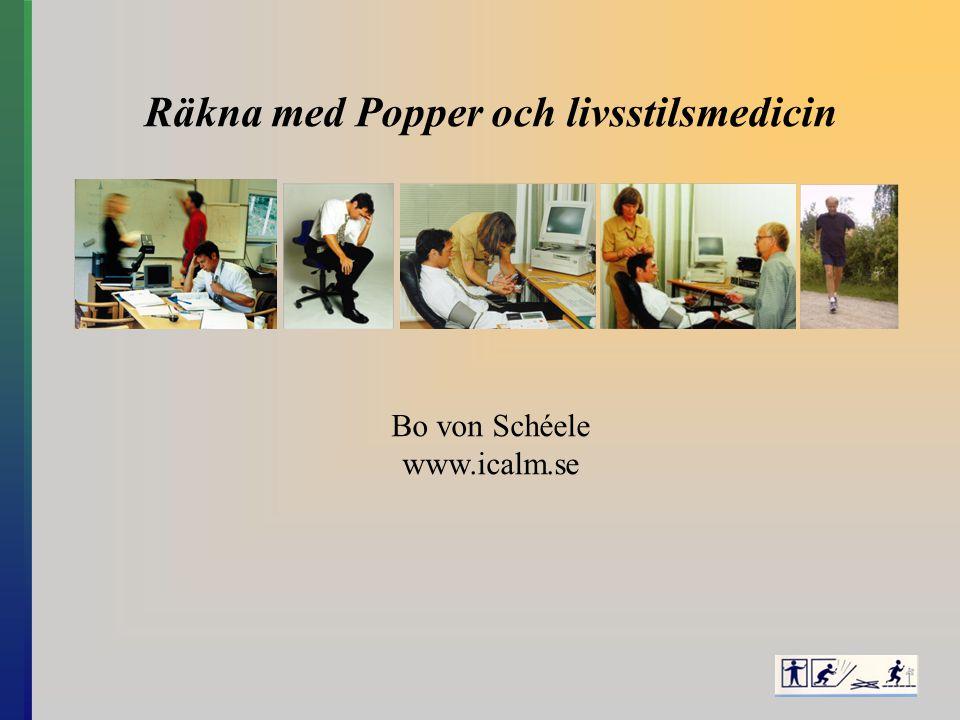 Räkna med Popper och livsstilsmedicin