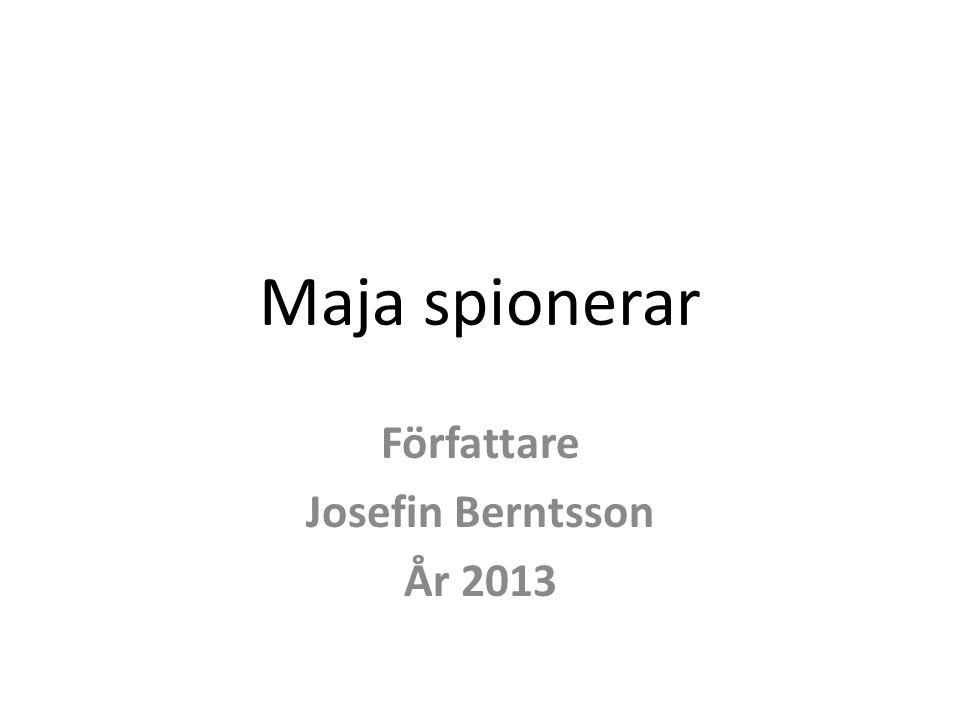 Författare Josefin Berntsson År 2013