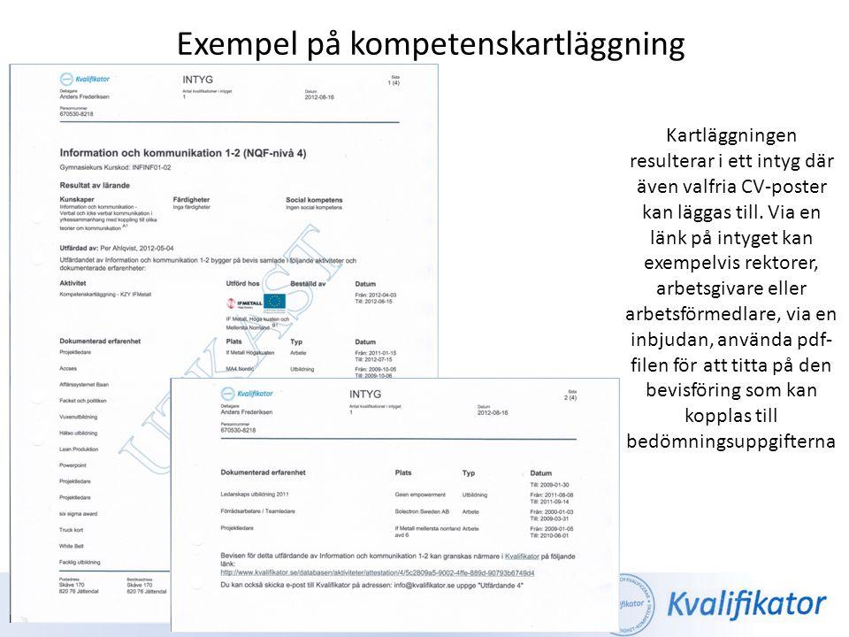 Exempel på kompetenskartläggning