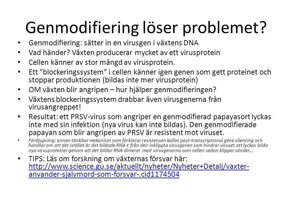 Genmodifiering löser problemet