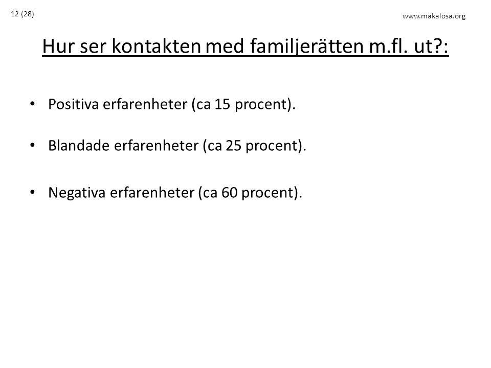 Hur ser kontakten med familjerätten m.fl. ut :