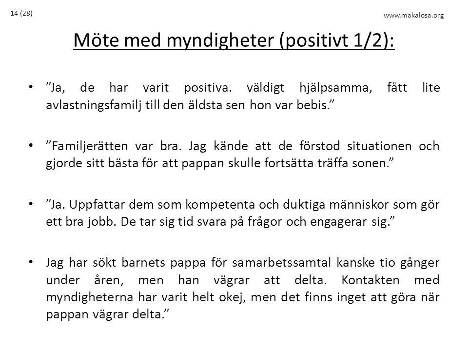 Möte med myndigheter (positivt 1/2):