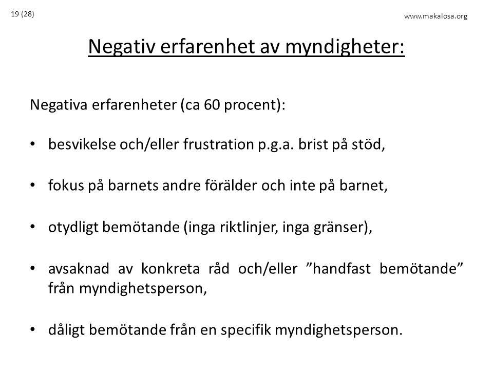Negativ erfarenhet av myndigheter: