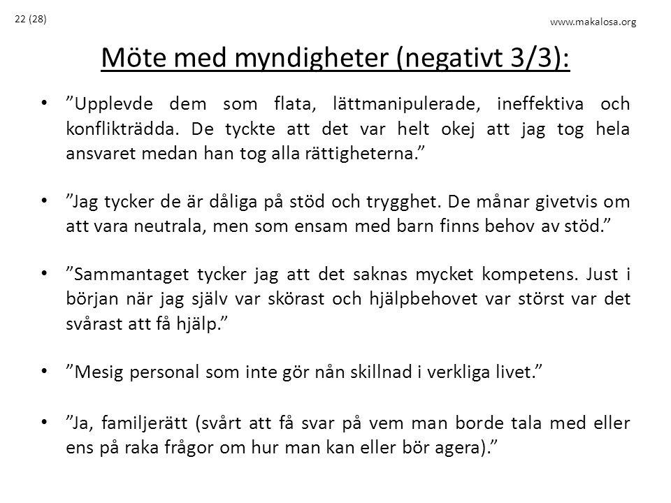 Möte med myndigheter (negativt 3/3):