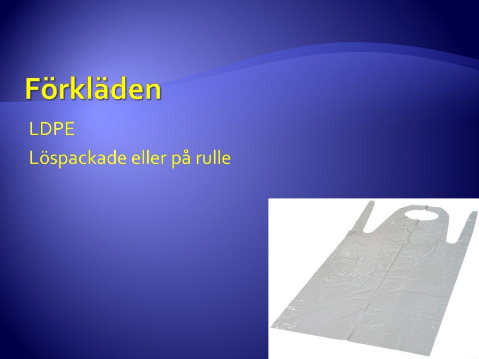 Förkläden LDPE Löspackade eller på rulle