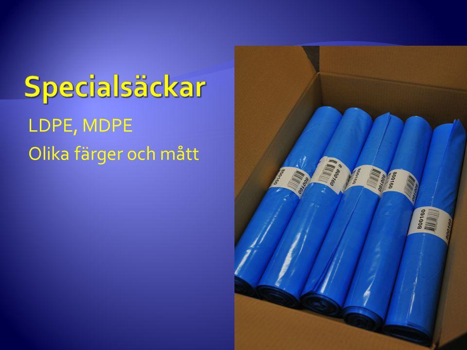 Specialsäckar LDPE, MDPE Olika färger och mått