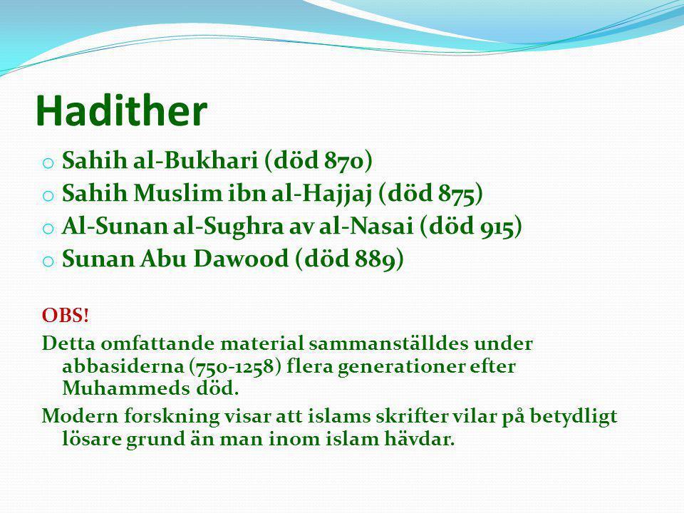 Hadither Sahih al-Bukhari (död 870)