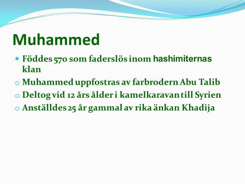 Muhammed Föddes 570 som faderslös inom hashimiternas klan