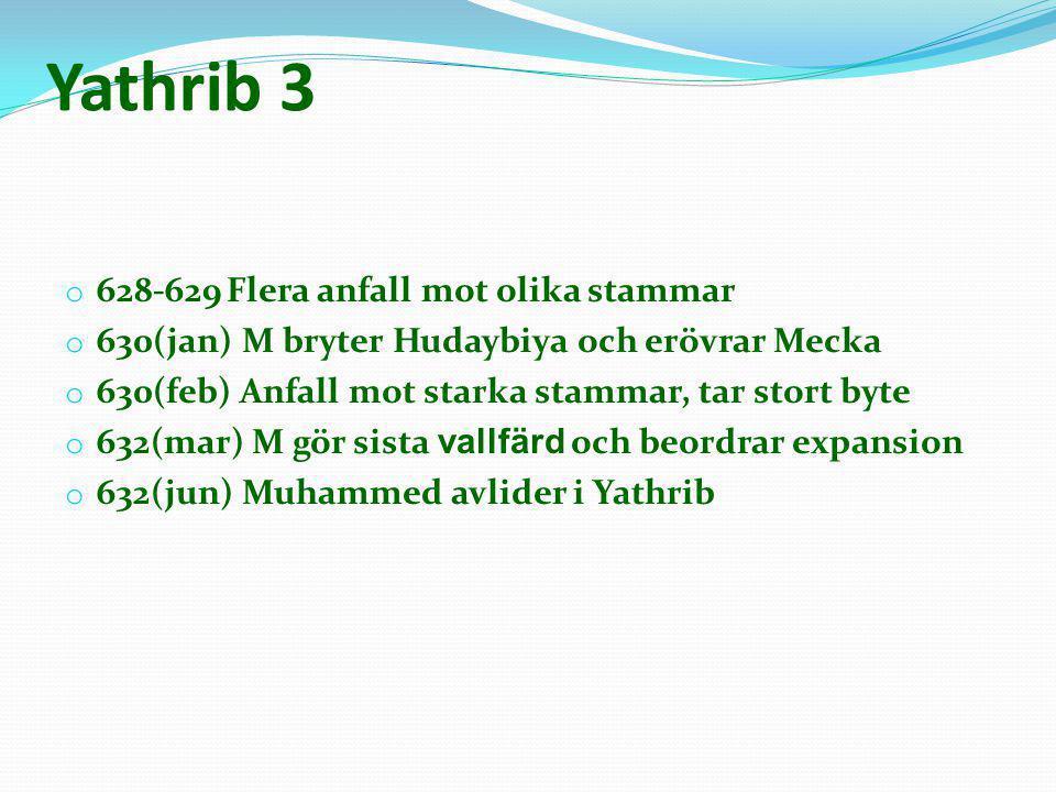 Yathrib 3 628-629 Flera anfall mot olika stammar