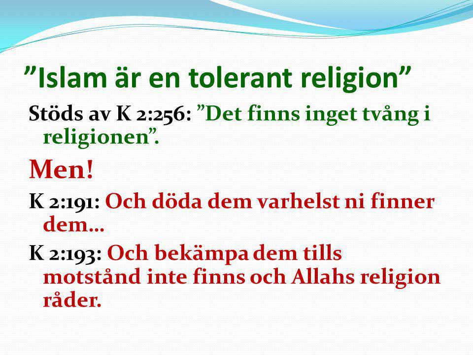 Islam är en tolerant religion