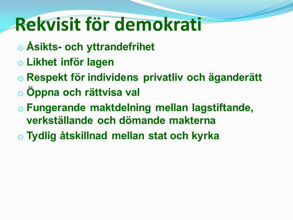 Rekvisit för demokrati