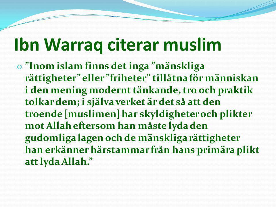 Ibn Warraq citerar muslim