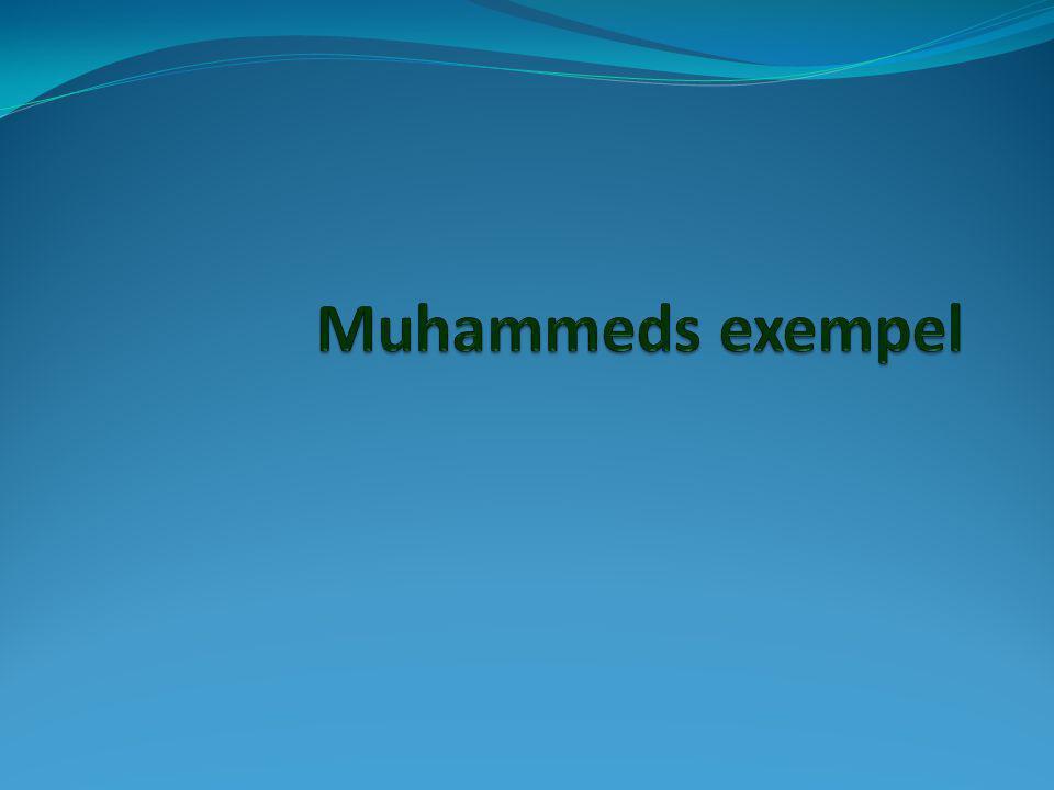 Muhammeds exempel