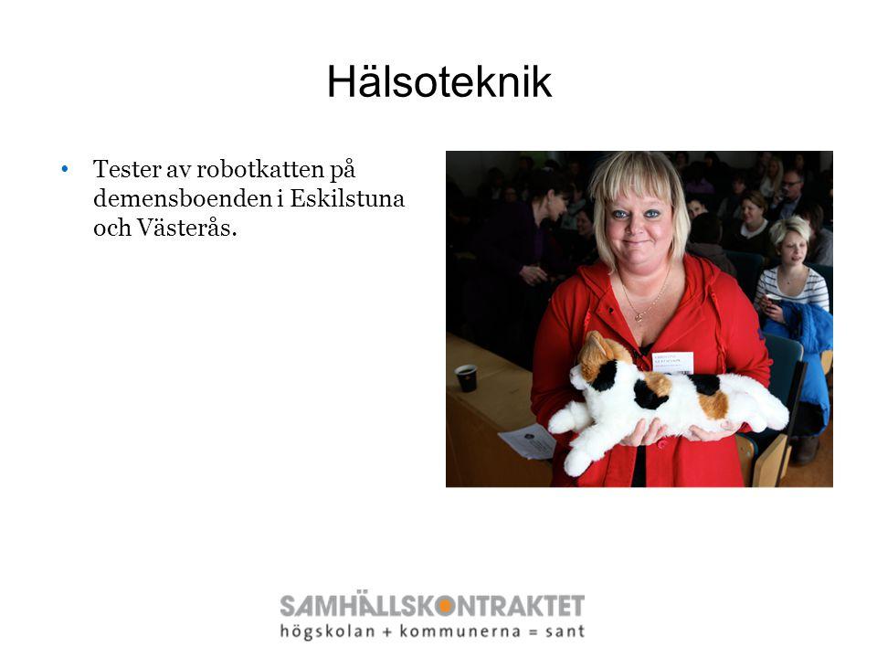 Hälsoteknik Tester av robotkatten på demensboenden i Eskilstuna och Västerås.