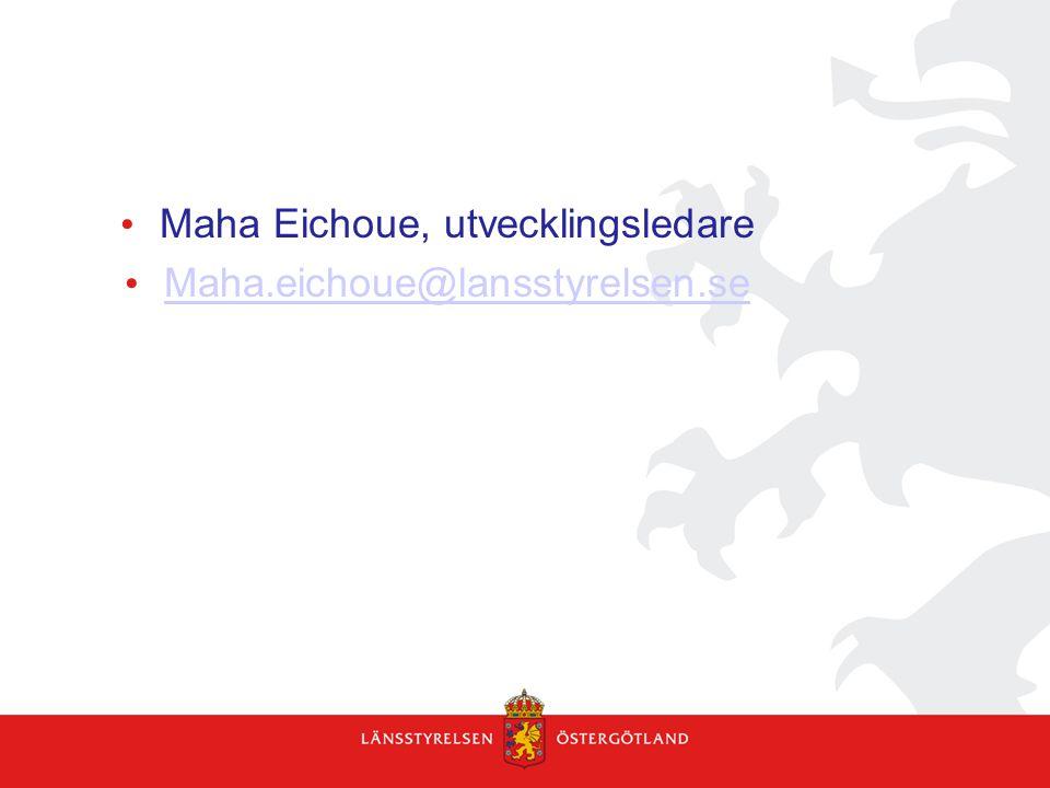 Maha Eichoue, utvecklingsledare