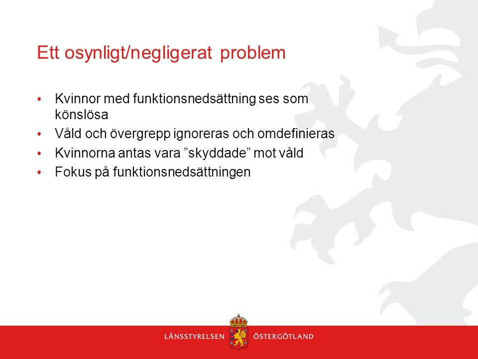 Ett osynligt/negligerat problem