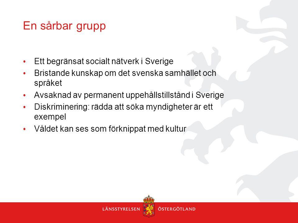 En sårbar grupp Ett begränsat socialt nätverk i Sverige