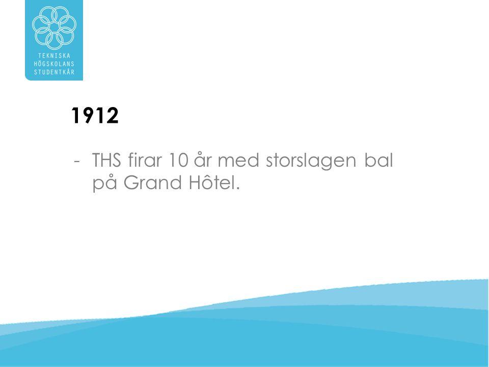 1912 THS firar 10 år med storslagen bal på Grand Hôtel.