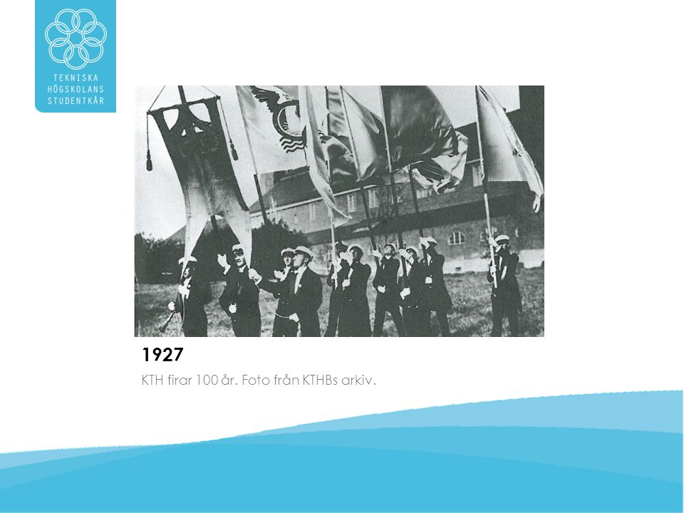1927 KTH firar 100 år. Foto från KTHBs arkiv.