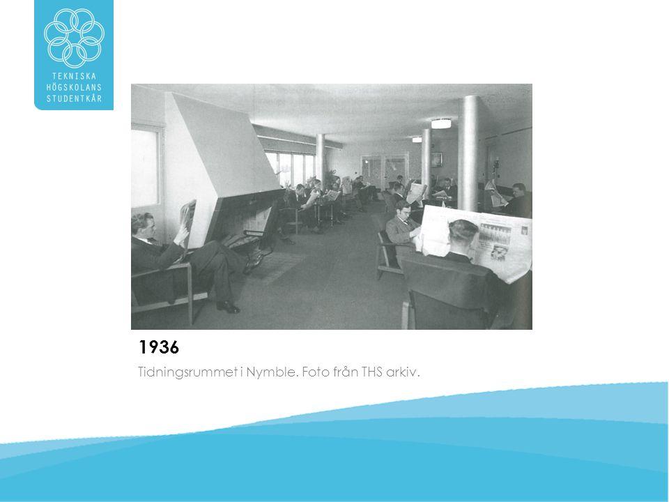 1936 Tidningsrummet i Nymble. Foto från THS arkiv.