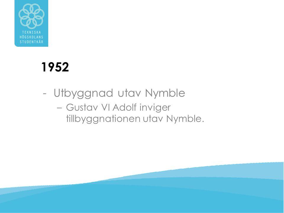 1952 Utbyggnad utav Nymble Gustav VI Adolf inviger tillbyggnationen utav Nymble.