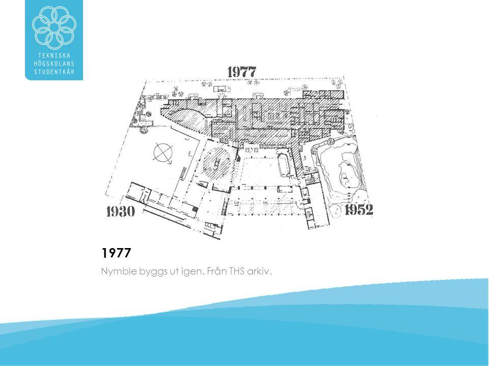 1977 Nymble byggs ut igen. Från THS arkiv.