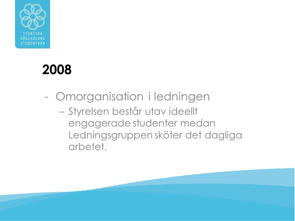2008 Omorganisation i ledningen