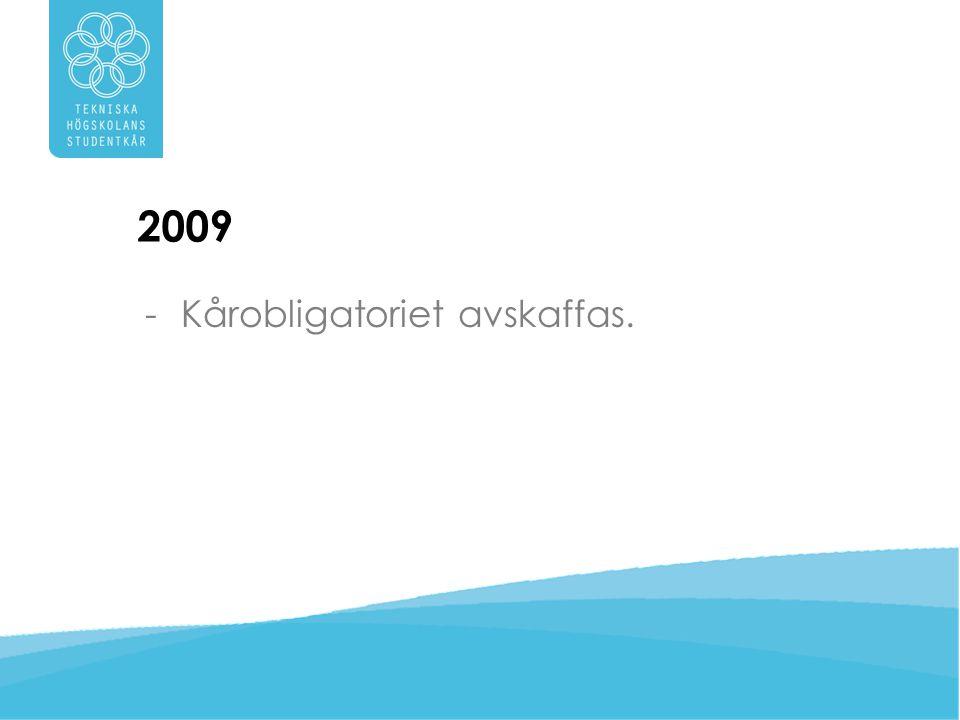 2009 Kårobligatoriet avskaffas.