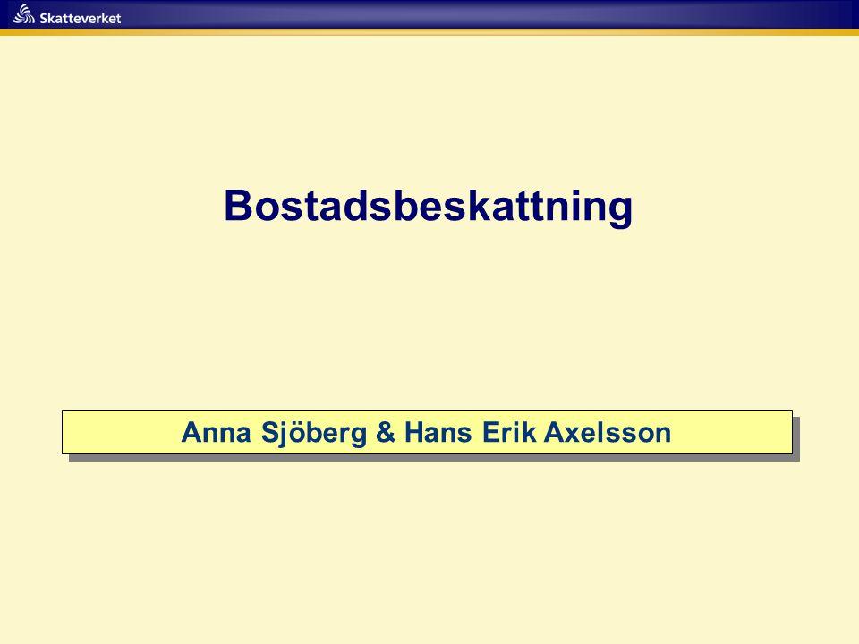 Anna Sjöberg & Hans Erik Axelsson