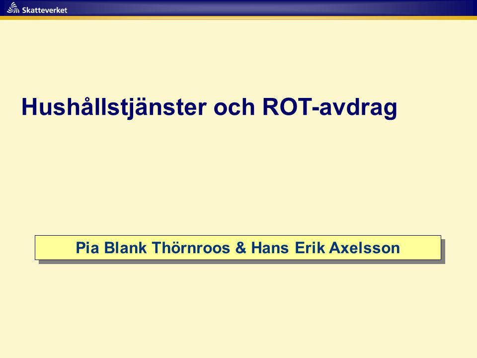 Pia Blank Thörnroos & Hans Erik Axelsson