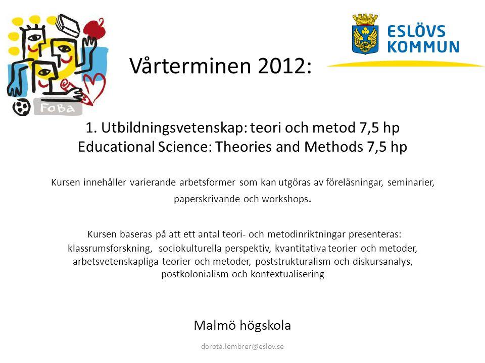 Vårterminen 2012: